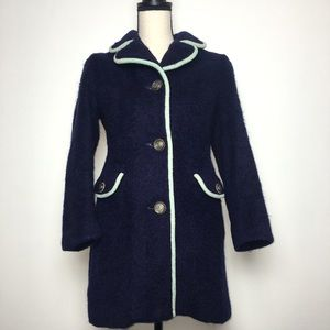 Beautiful Vintage Lodenfrey Navy Wool Coat (S)